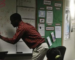 Mr. Palmer, engaging his algebra students