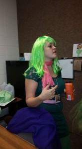 American Board alum Alecia Stauffer (in costume) in her classroom