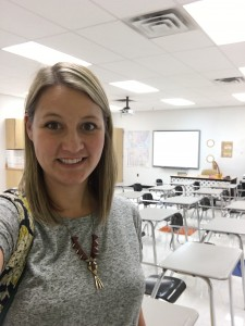 Maegann Coyle in her classroom