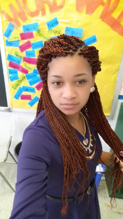 Shaniequa Lewis in her classroom