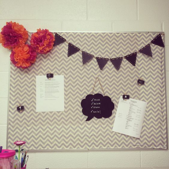 Elementary classroom decor ideas for under 20 for Diy fabric bulletin board ideas
