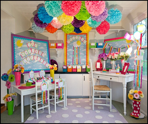 color code your pom poms to match your classroom theme or change them up during the holidays - Classroom Design Ideas