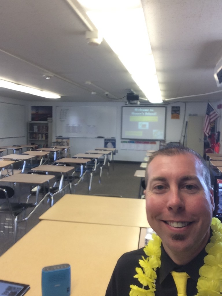 Scott Moore in his classroom