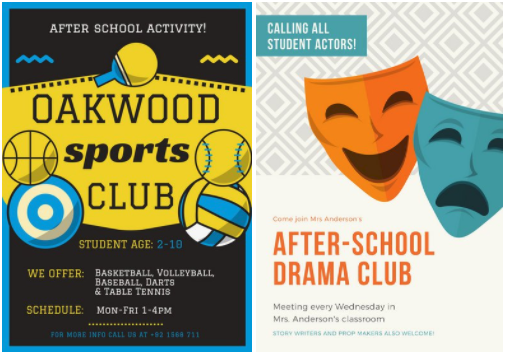 5 Creative Poster Ideas for Your After-School Activities