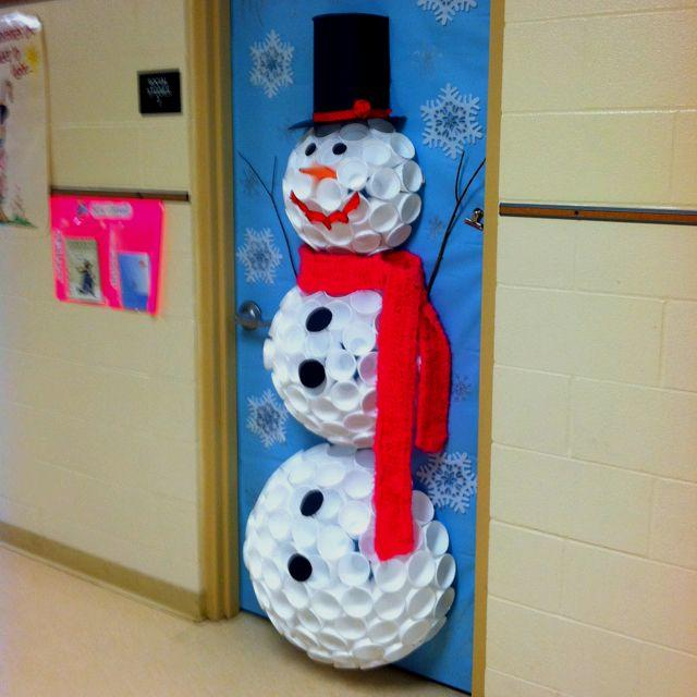 holiday doors recycle snowman & holiday doors recycle snowman - The American Board Blog