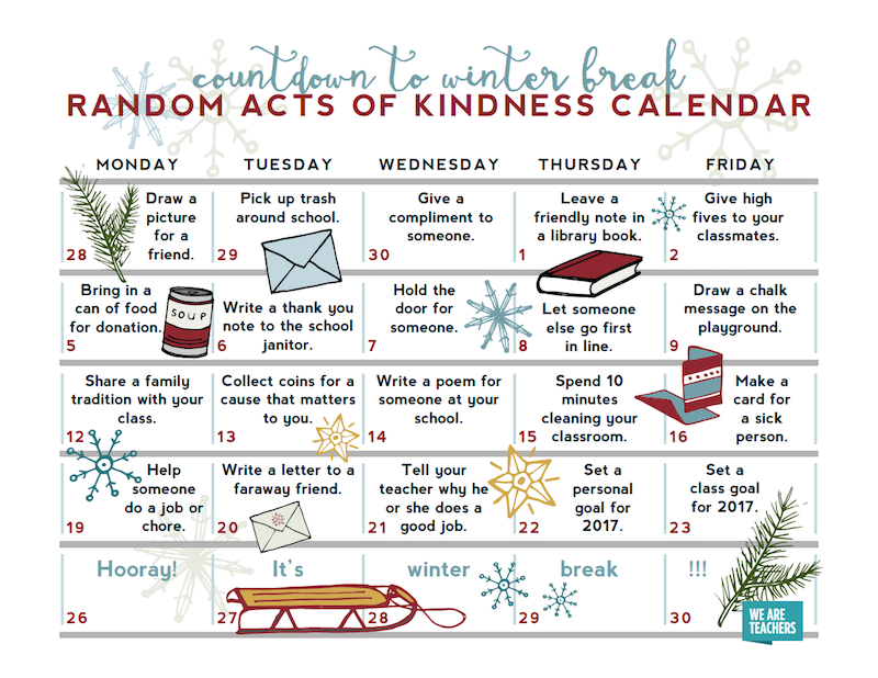 Calendar Activities For Elementary Students : Holiday activities and decorations for the classroom