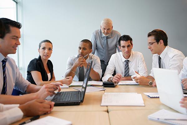 teachers in a meeting room